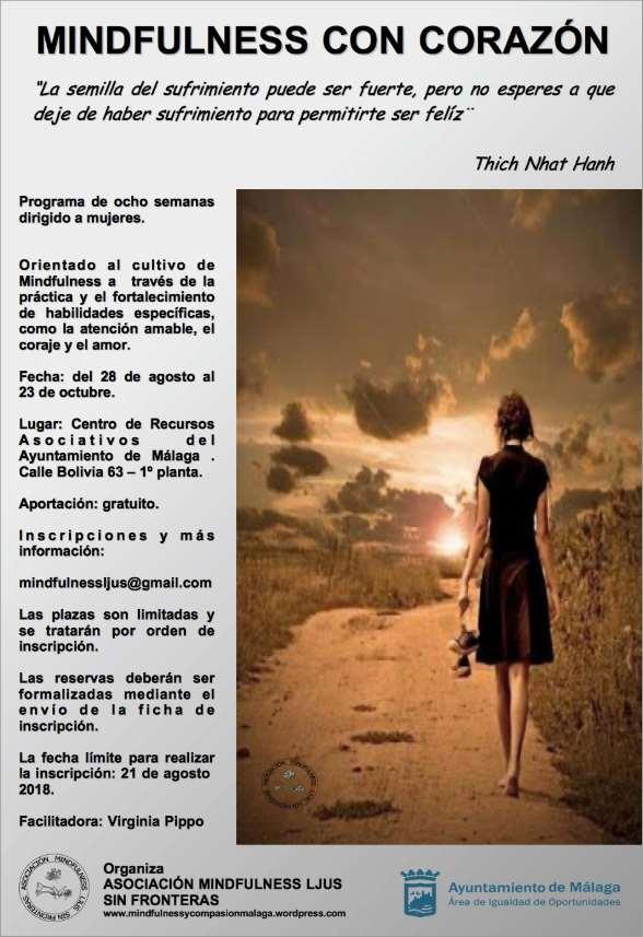 "Programa gratuito ""MINDFULNESS CON CORAZÓN"" para mujeres en Málaga"