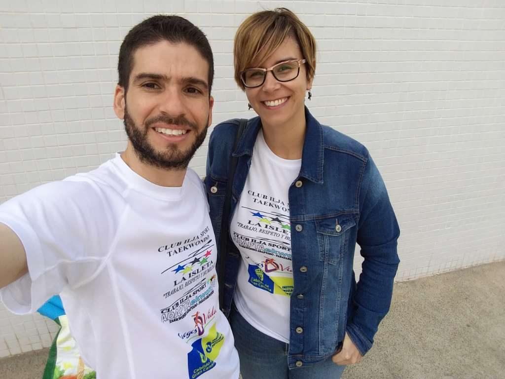 Miguel Medina y Davinia Espino llevan a cabo el programa de ADAPTAekwonDO en Las Palmas