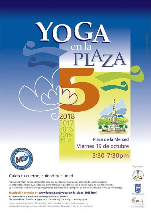 """""""Cuida tu cuerpo, cuida tu ciudad"""", es el lema del V Yoga en la Plaza"""