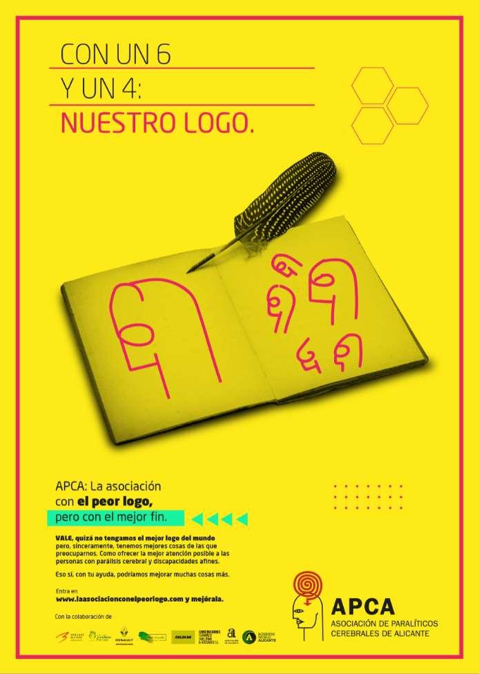 """La Asociación de Paralíticos Cerebrales de Alicante (APCA), presenta su campaña """"La Asociación con el peor logo, pero con el mejor fin"""""""