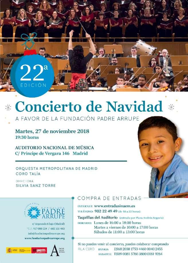 22º Concierto benéfico de Navidad de la Fundación Padre Arrupe