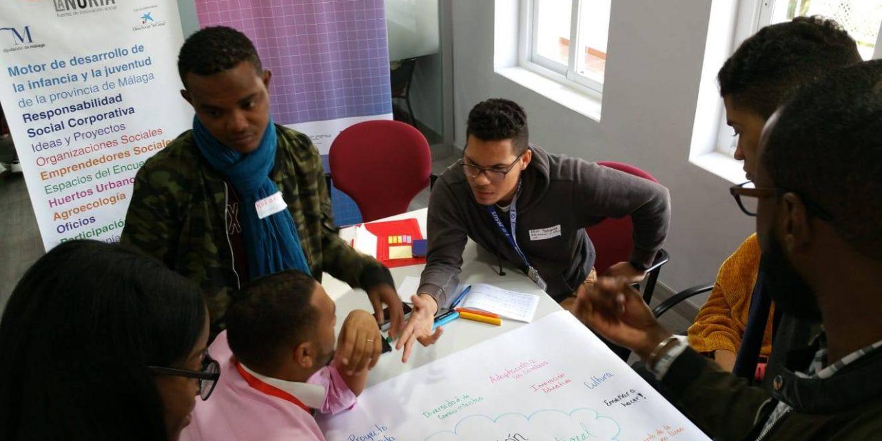 Encuentro en La Noria con emprendedoras/es sociales de República Dominicana