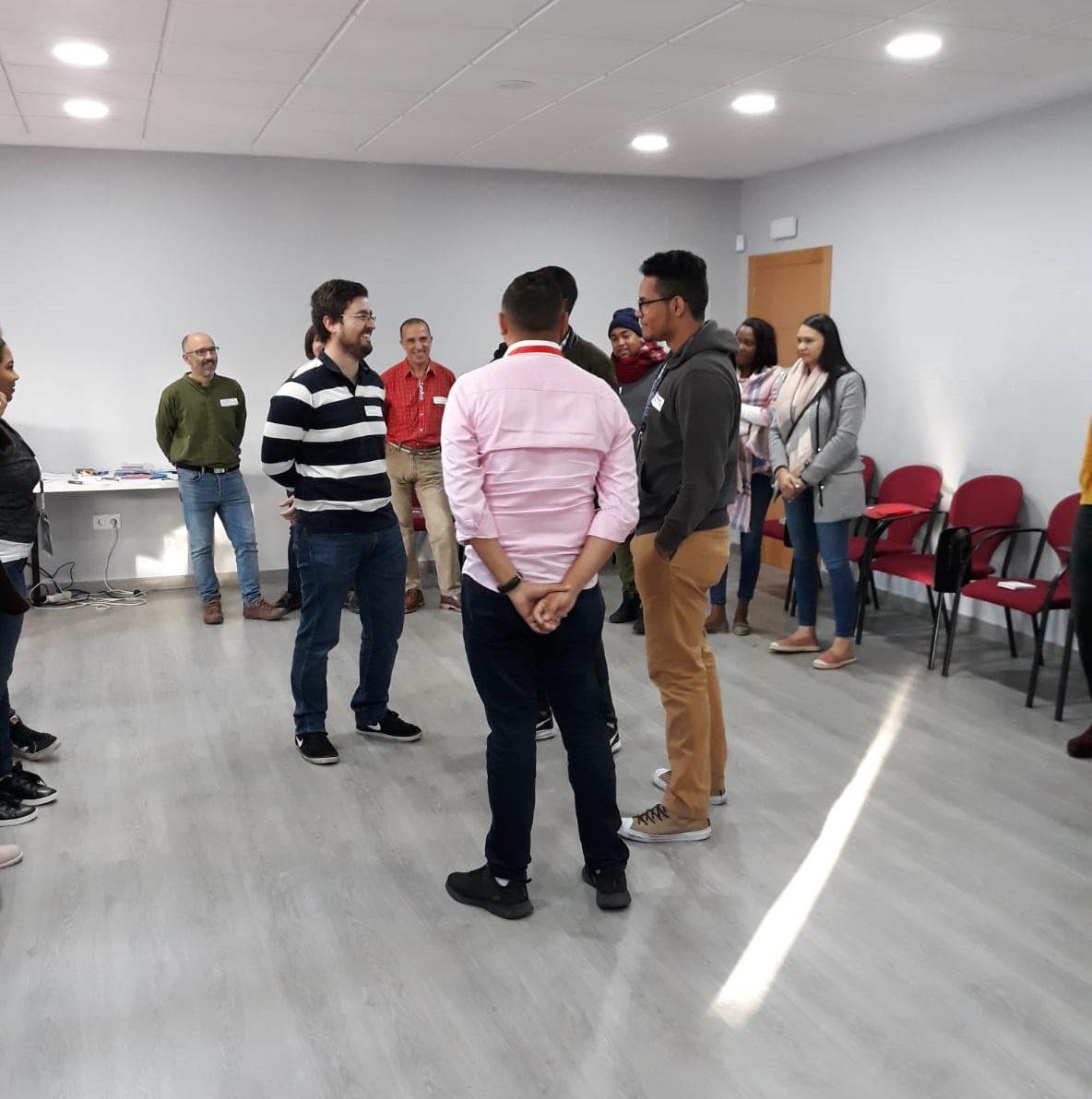 Primera dinámica de grupo facilitada por Sergio Álvarez de Neira