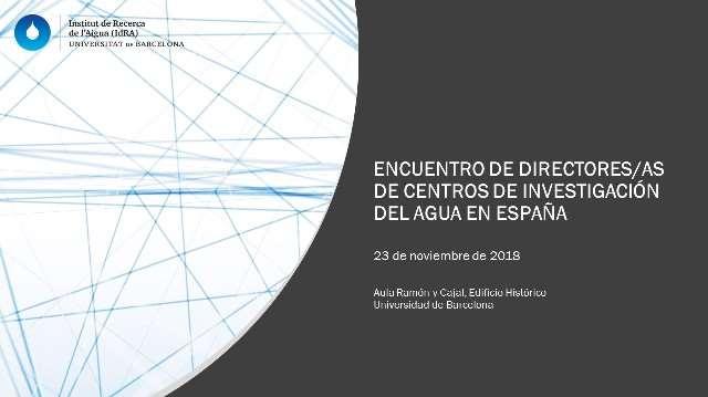 22 centros de investigación del agua se unirán en la primera red científica hídrica española