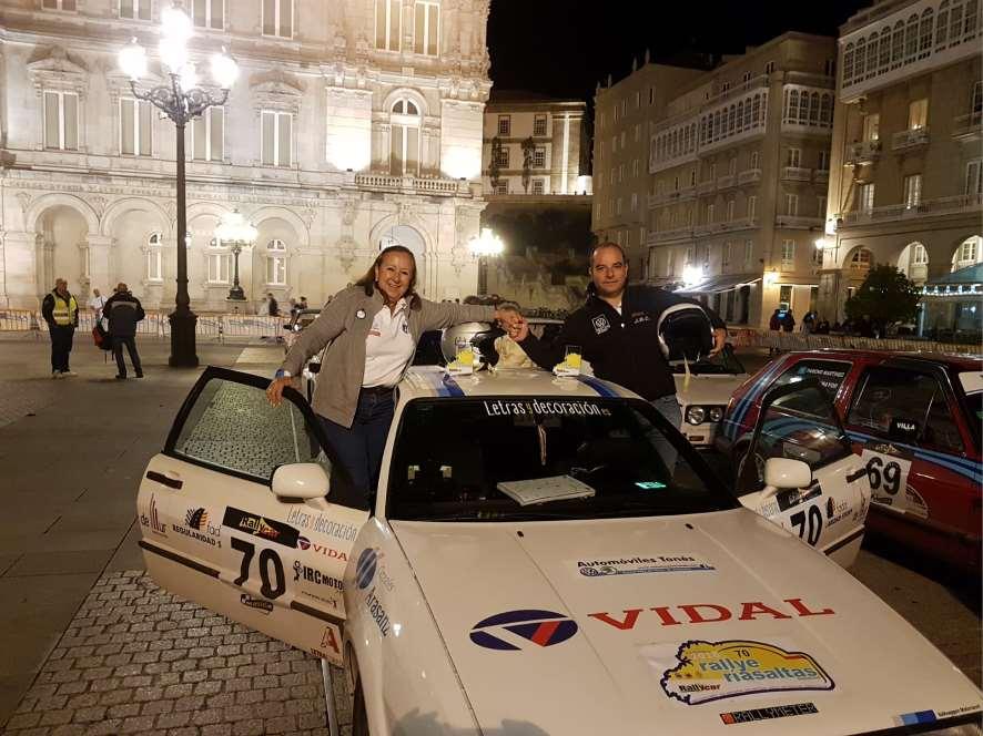 """La copiloto Concha Velázquez, alias""""Canela"""", subcampeona de España de Rally de Regularidad con 62 años"""