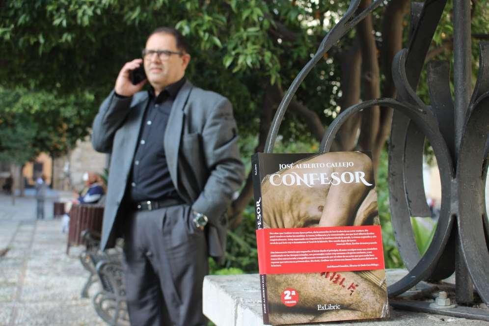 En 'Confesor', José Alberto Callejo consigue acallarlos sentimientos de revancha que guarda desde el día en el que deseó tener un arma ensus manos por cuatro atracos muy violentos que sufrió