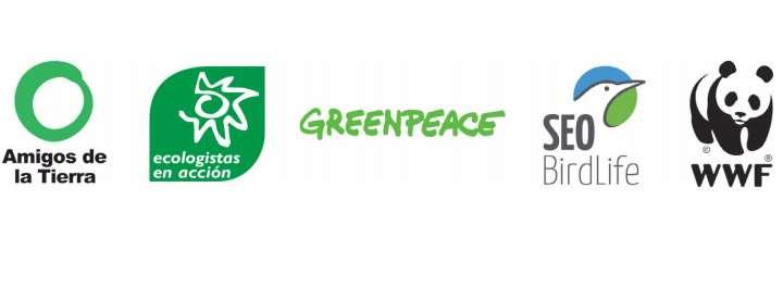 Las organizaciones firmantes de la propuesta de ecofiscalidad son: Amigos de la Tierra. Ecologistas en Acción, Greenpeace, SEO/BirdLife y WWF
