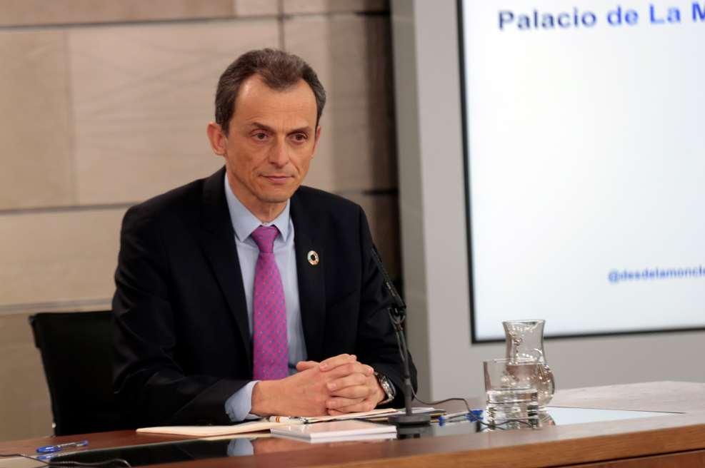 Pedro Duque durante su intervención en la conferencia de prensa tras el Consejo de Ministros. / Ministerio Ciencia, Innovación y Universidades
