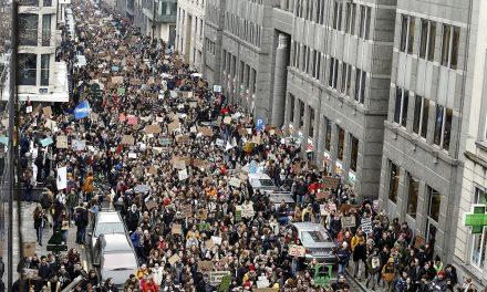 Justicia climática reclaman en Bélgica en una cadena de protestas sin precedentes
