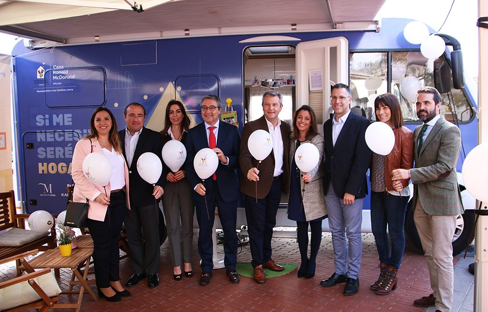 La casa Ronald McDonald recorrerá 30 municipios de Málaga en una autocaravana