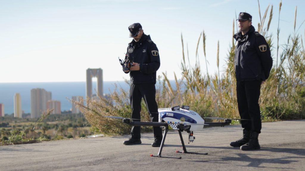 drone policial benidorm