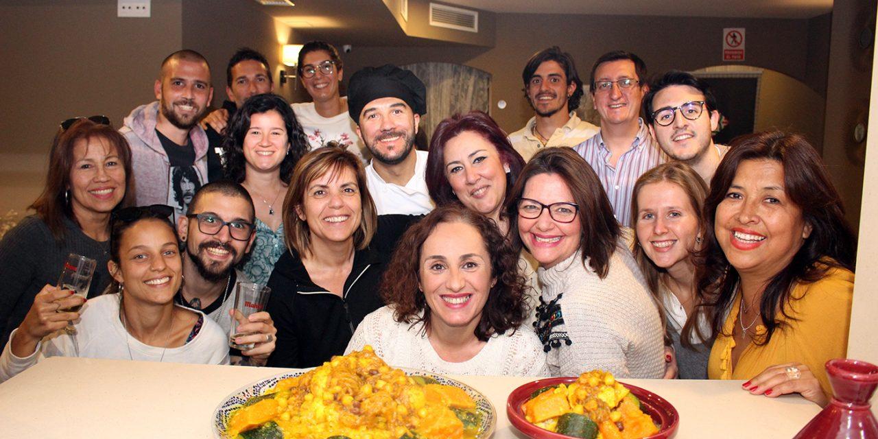 El cuscús fue el plato principal del segundo showcooking del Restaurante Mosaico