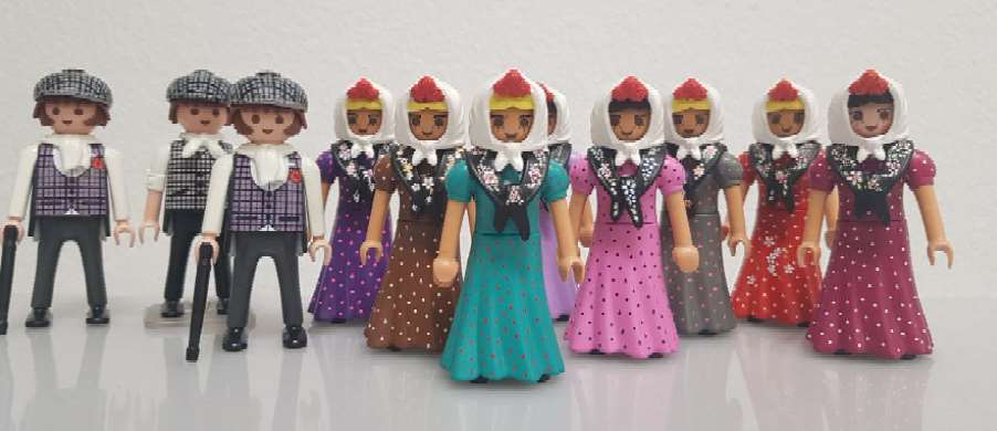 Diorama de Clicks de Playmobil por San Isidro Labrador