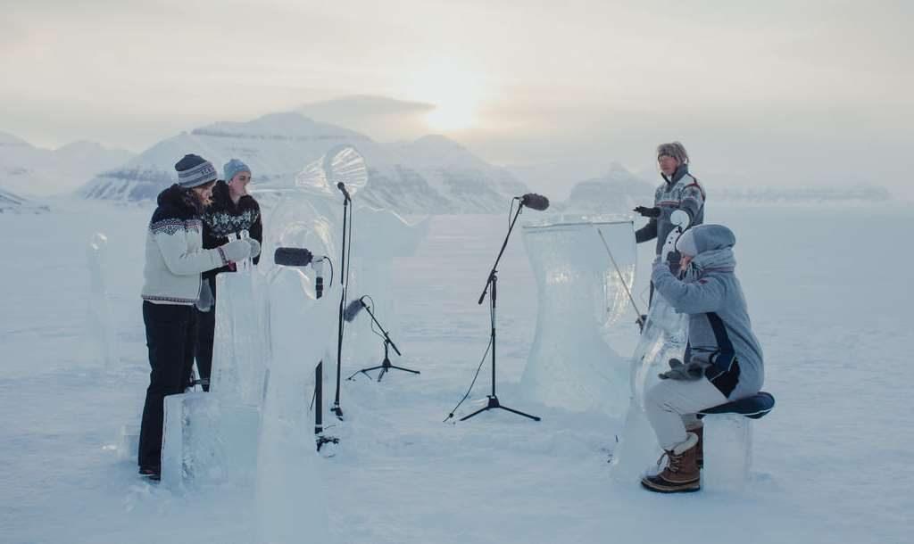 Concierto sobre hielo en el Ártico por la creación de santuarios marinos