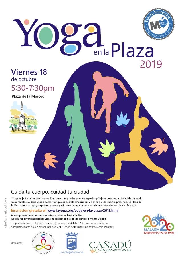 Cartel del evento Yoga en la Plaza 2019
