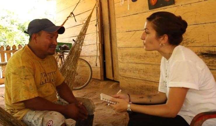 Una de las voluntarias europeas de Acción contra el Hambre en 2018 en Colombia.