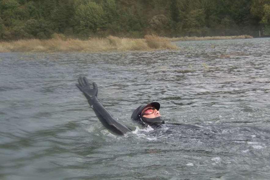 Desde 1989 Carlos Peña, siempre ha nadado, impulsado por algún motivo social
