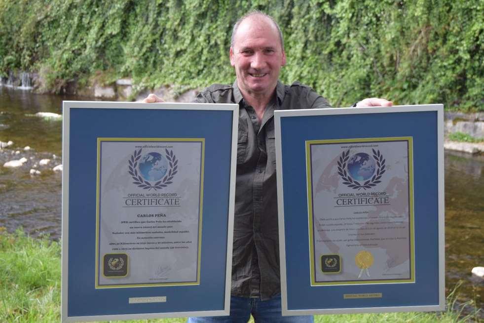 Carlos Peña cuenta con 2 records mundiales otorgados por la OWR