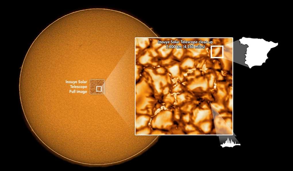 Las imágenes muestran grandes burbujas del tamaño de España pero también pequeños elementos del tamaño de Manhattan. Foto cortesía de NSF