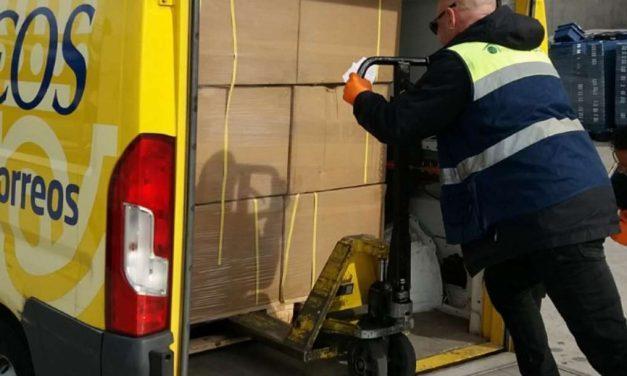 Correos entrega los respiradores fabricados por SEAT