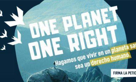 Por el derecho a un planeta sano #1Planet1Right