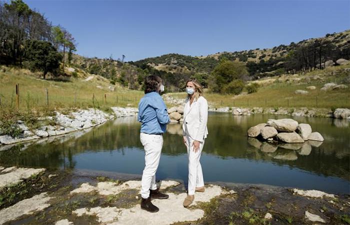 Finaliza la restauración ecológica y paisajística de la antigua presa de La Alberca (Madrid)